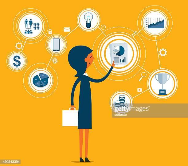 customer relationship management - fileira stock illustrations