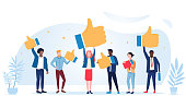 Customer review rating. Different People give review rating and feedback. Customer choice. Know your client concept. Rank rating stars feedback. Business satisfaction support