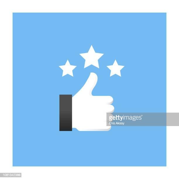 customer reviews icon - enjoyment stock illustrations
