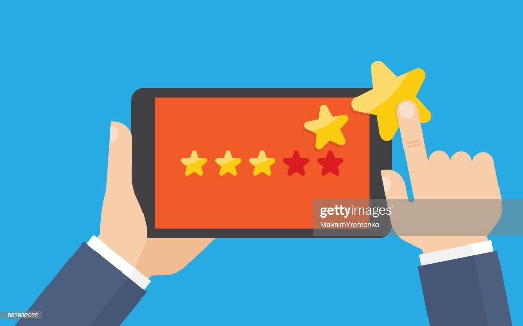 Customer reviews, rating, classification concept.