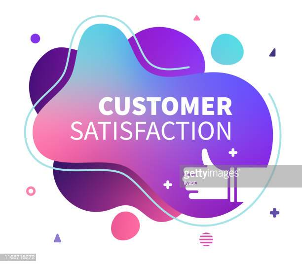 customer satisfaction abstract liquid vector banner - customer focused stock illustrations