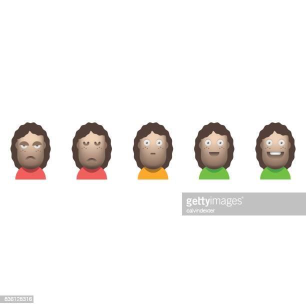 Customer satisfaction avatar icons
