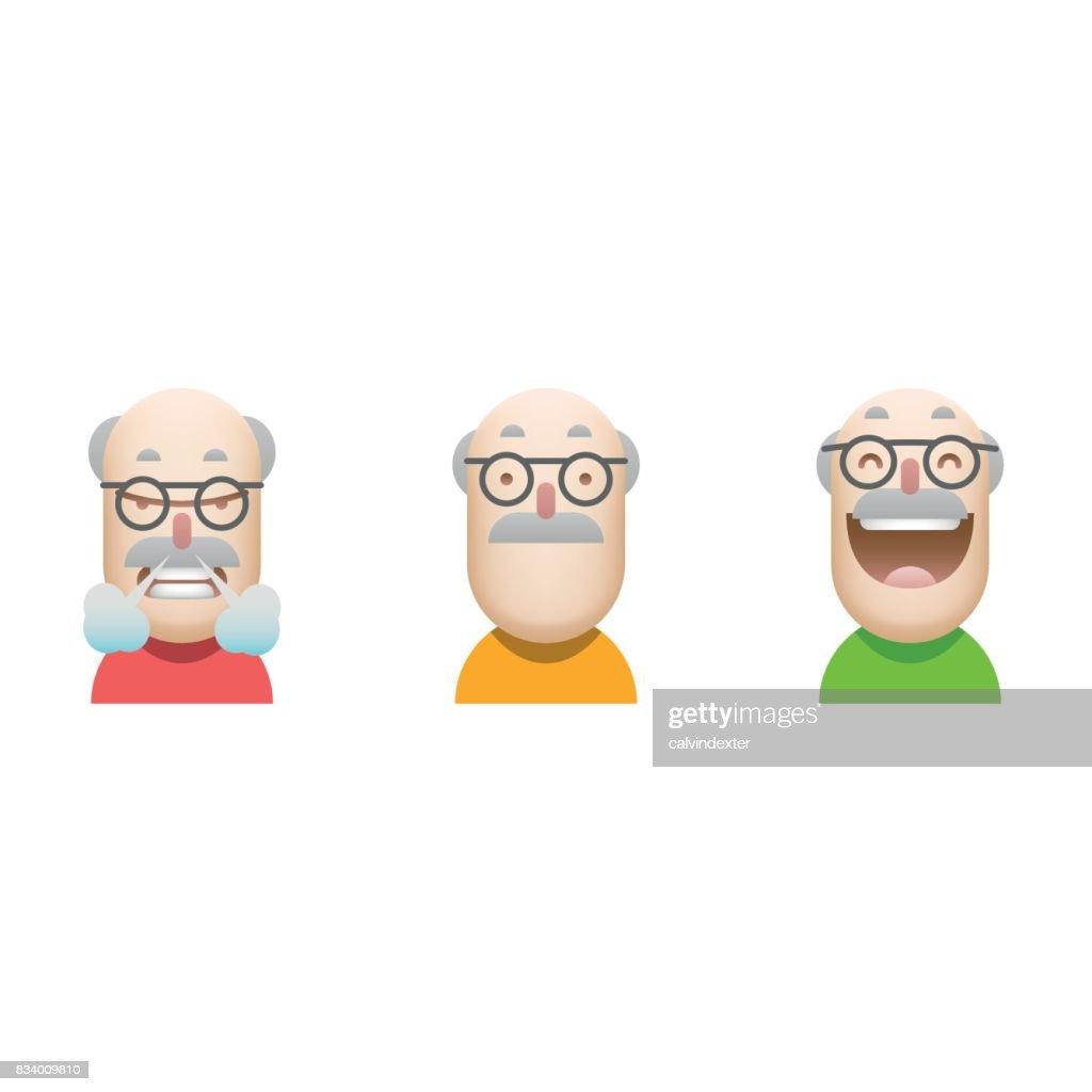 Customer satisfaction avatars icon set : stock illustration