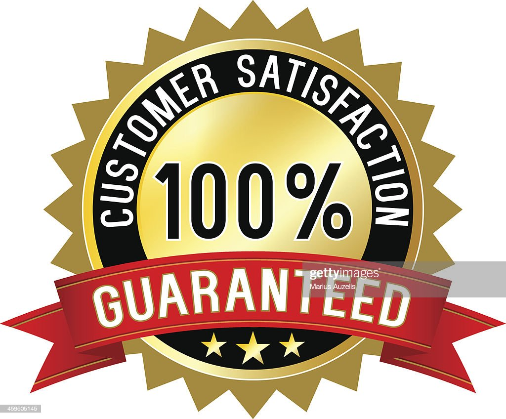 Customer satisfaction guaranteed label