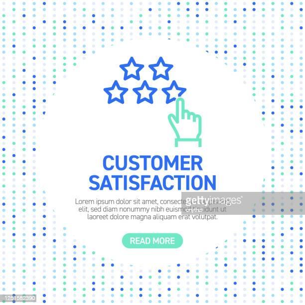 顧客満足度ラインアイコン。パターン付きの単純なアウトライン シンボル アイコン - テスティモニアル点のイラスト素材/クリップアート素材/マンガ素材/アイコン素材