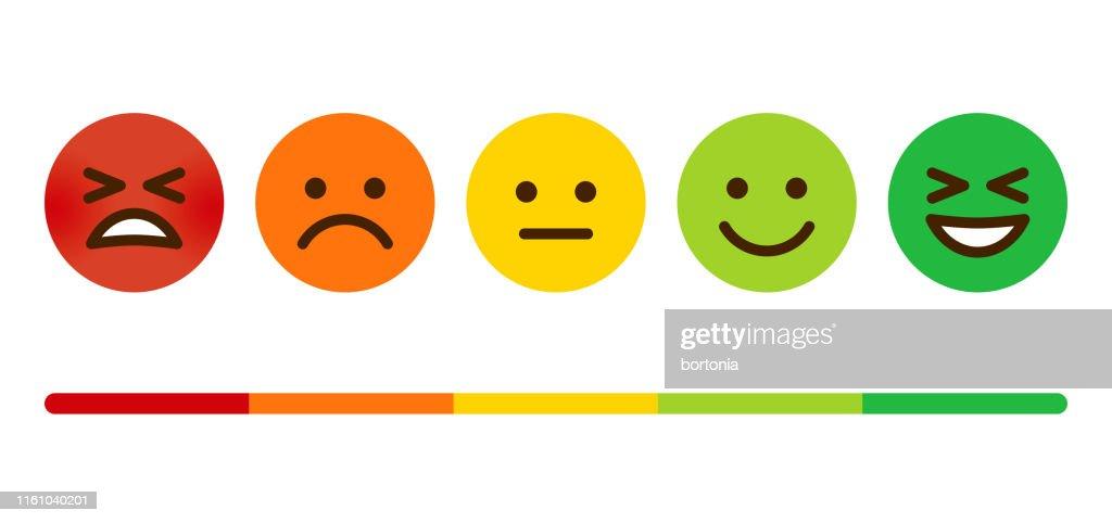 Customer Satisfaction Survey Emoticons : stock illustration
