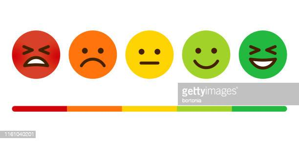 customer satisfaction survey emoticons - happiness stock illustrations
