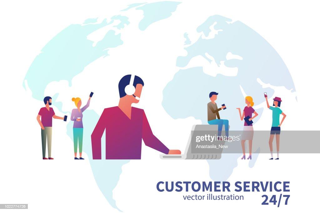 Customer service concept.