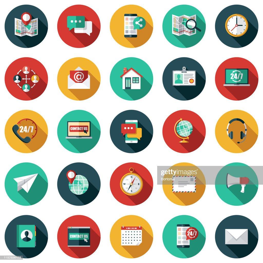 Jogo do ícone do serviço de atenção a o cliente : Ilustração