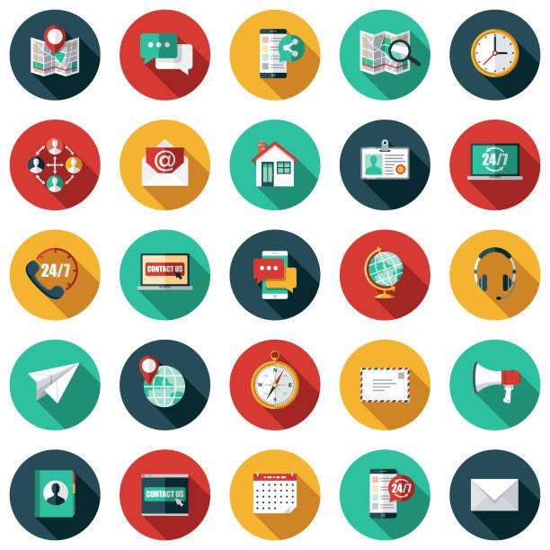 客戶服務圖示集 - 彩色影像 幅插畫檔、美工圖案、卡通及圖標