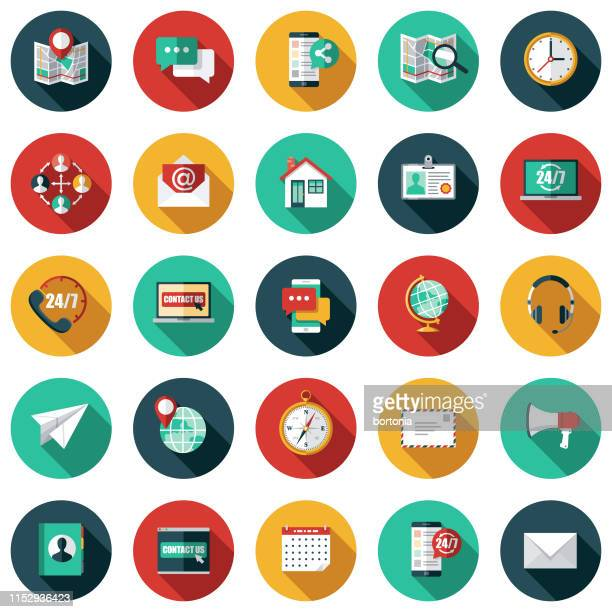 customer service icon set - marketing stock illustrations