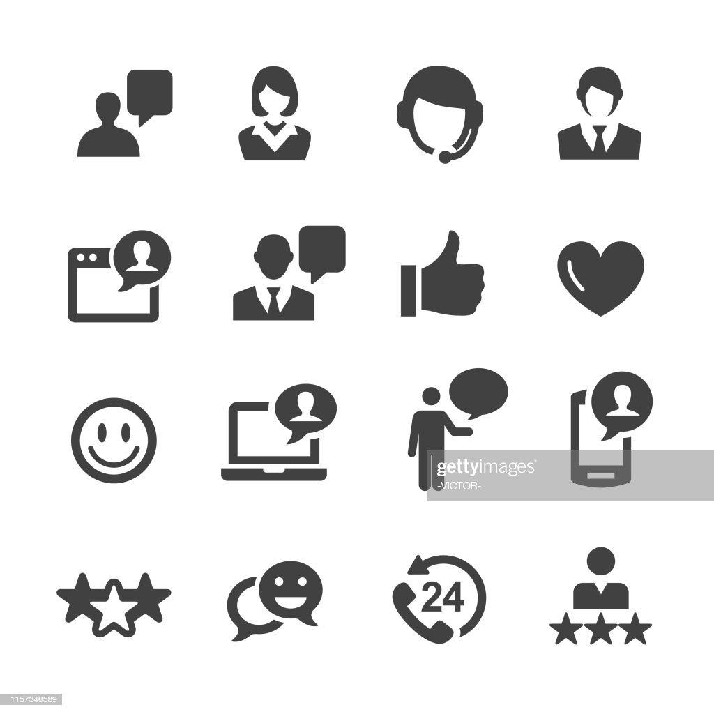 Customer Service Icons - Acme Series : stock illustration