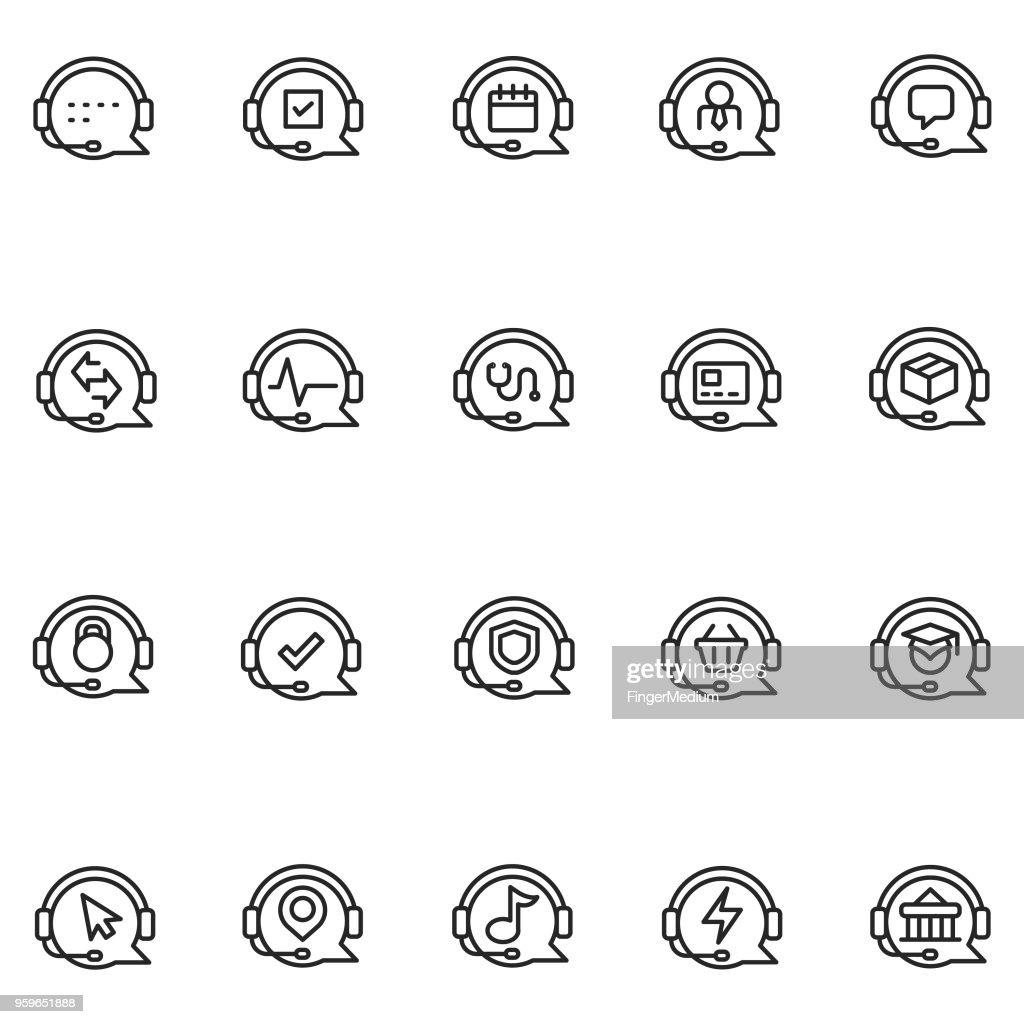 Kunden service-Symbole : Stock-Illustration