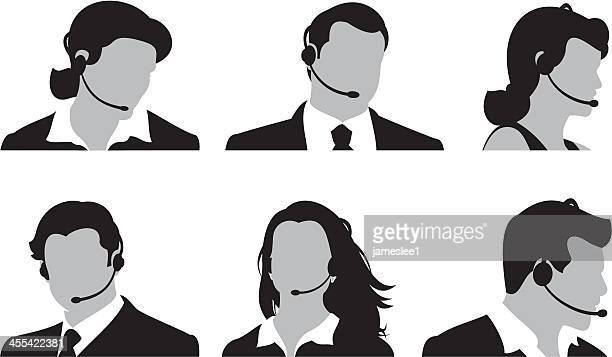 customer service team - customer service representative stock illustrations, clip art, cartoons, & icons
