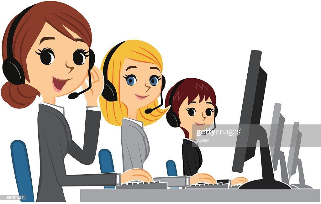 Customer service women : stock illustration