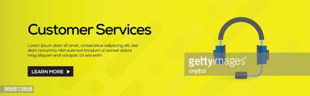Kunden-Services-flach Web-Banner