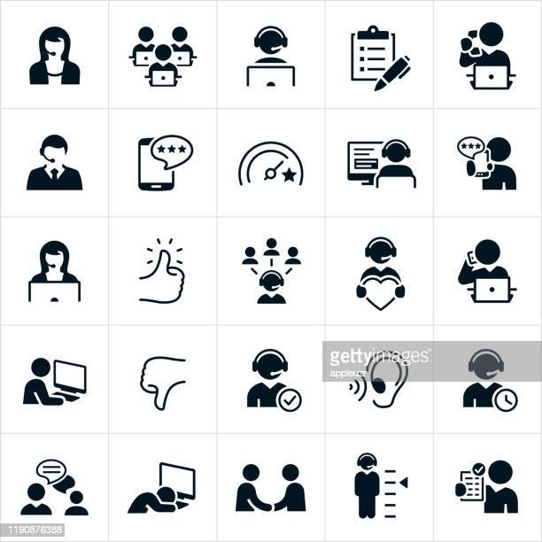 customer support icons - rating stock illustrations