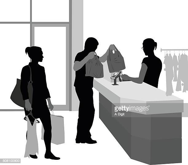 Customer Waiting To Pay For Clothes