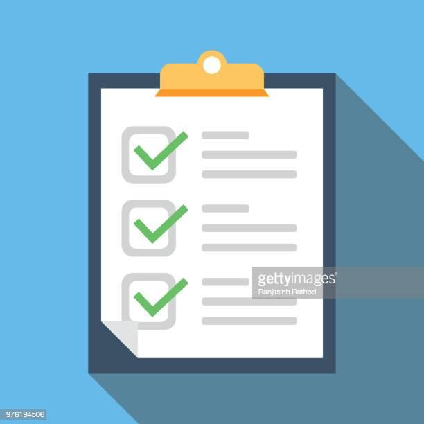 customers reviews - checklist stock illustrations