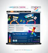 Customizable elegant design for a business website template