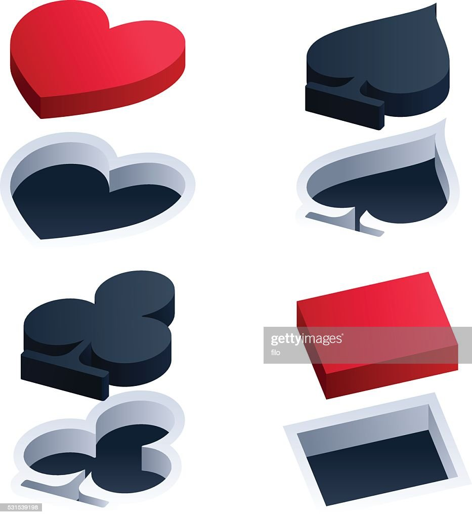 Cut out 3d playing card suit symbols vector art getty images cut out 3d playing card suit symbols vector art biocorpaavc