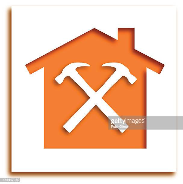 Cut Out Hammer House Icon