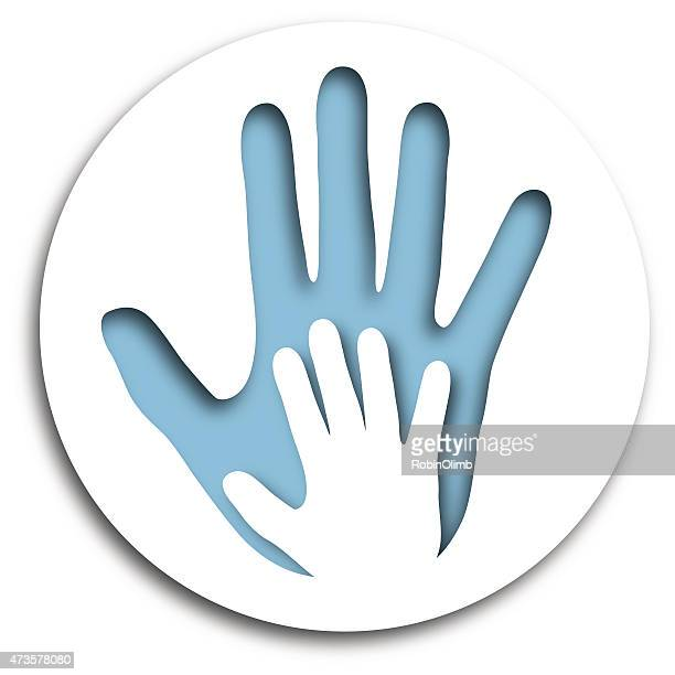 Cut Out Hands Icon