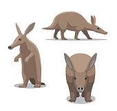 Cute Aardvark Cartoon Vector Illustration