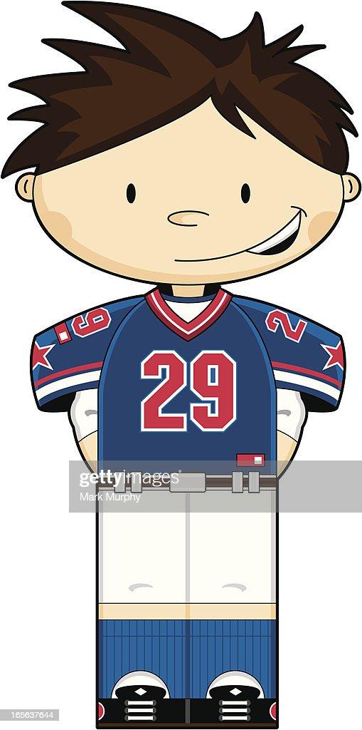 Cute American Football Boy