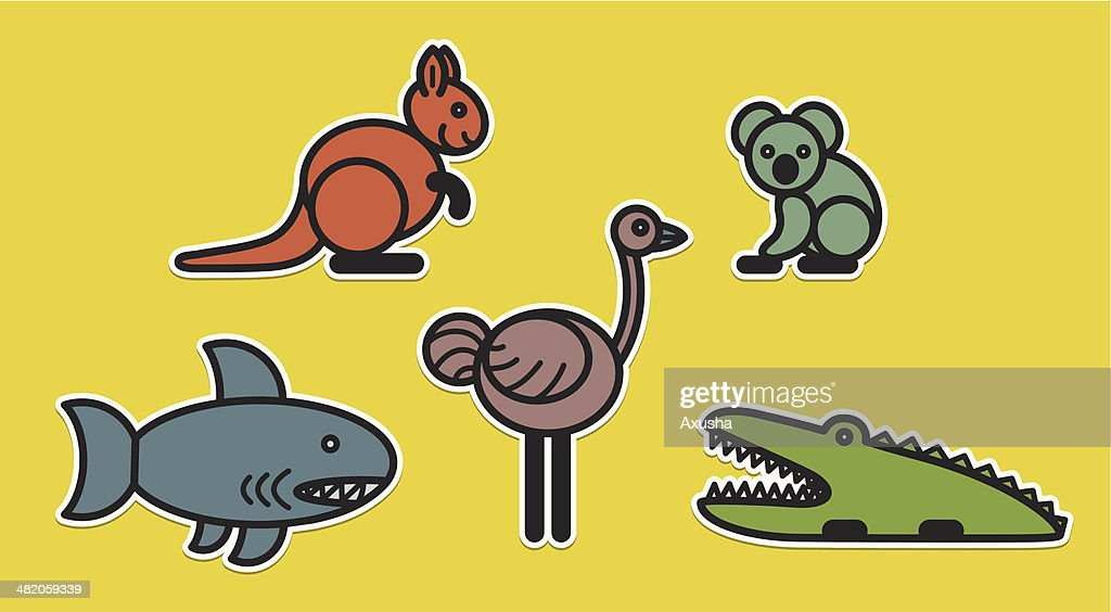 Cute animals set – Illustration