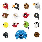 Cute Animals Set of Birds icon