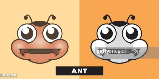 cute ant vector illustration - sac stock illustrations, clip art, cartoons, & icons