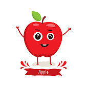Cute Apple character