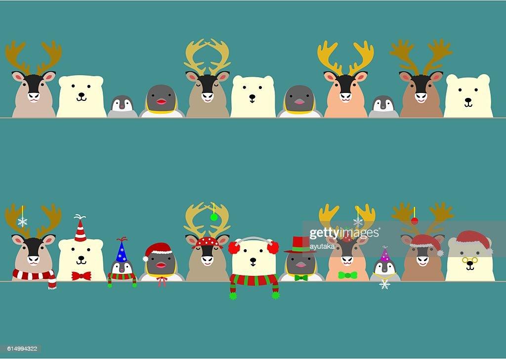 cute arctic animals border set vector art getty images
