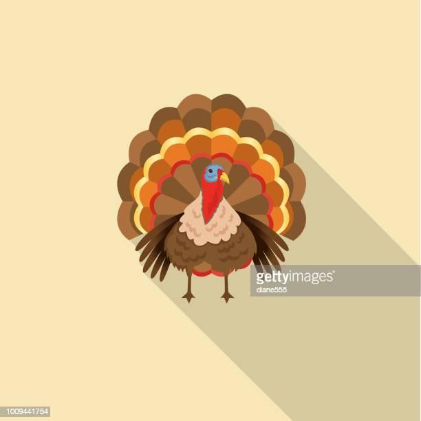 cute autumn icon - turkey - turkey bird stock illustrations