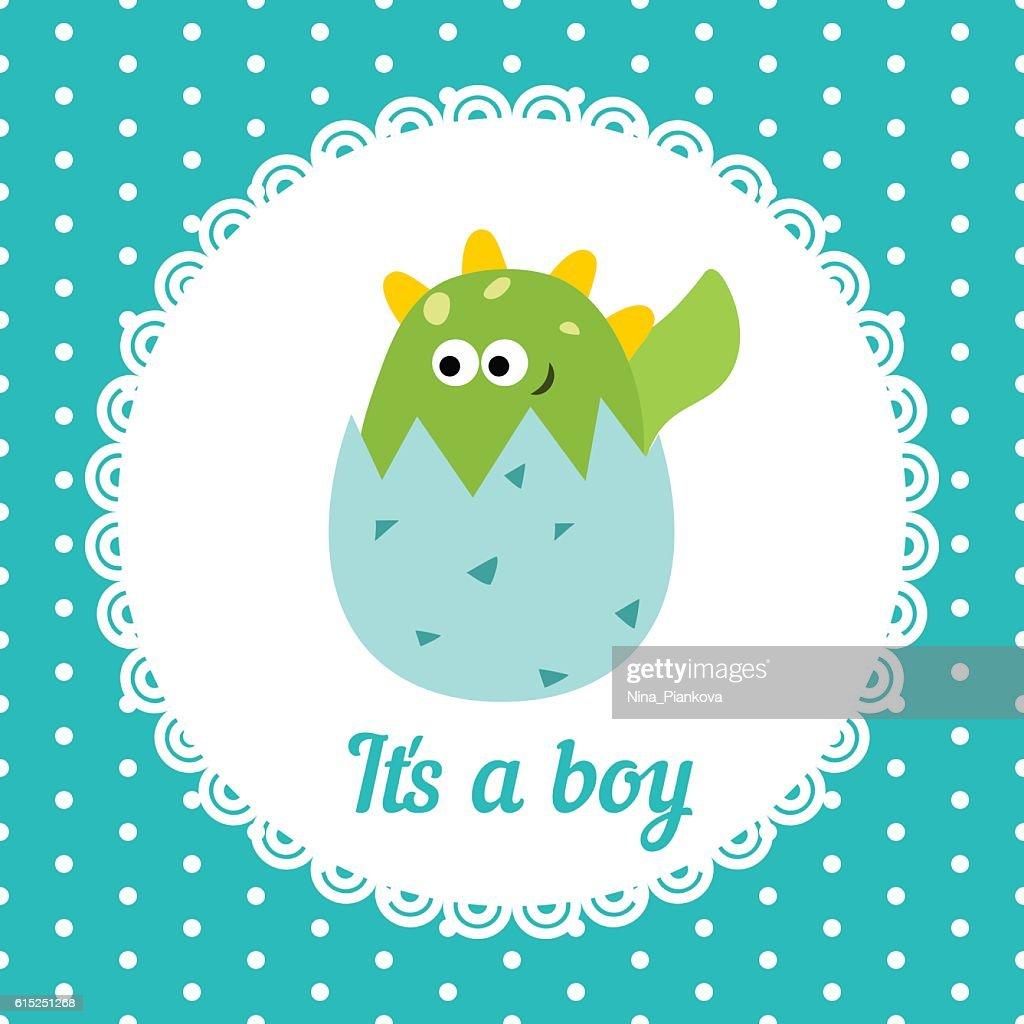 Cute baby boy card