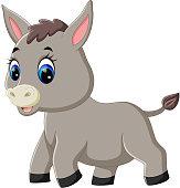 cute baby donkey cartoon