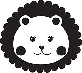 cute baby lion isolated icon