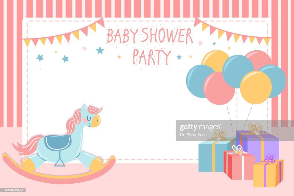cute baby shower invitation card