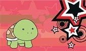 cute baby turtle cartoon background