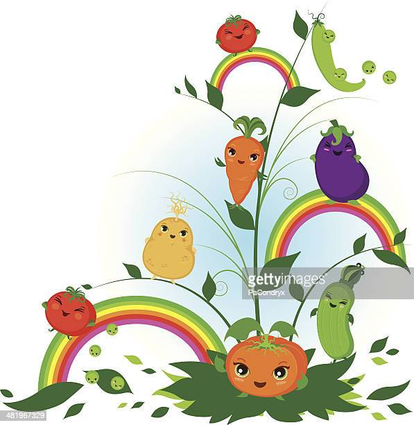 cute baby vegetables - marrom stock illustrations