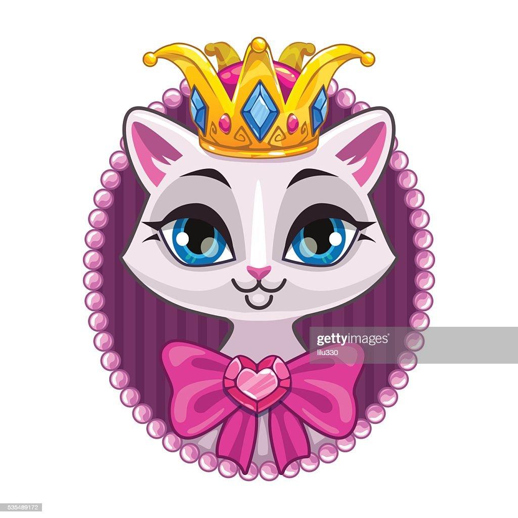 Cute beautiful princess kitty portrait