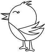 cute bird silhouette icon
