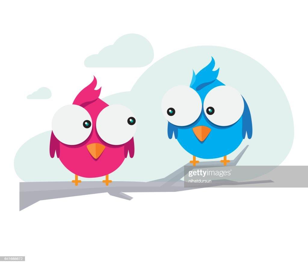 Cute Birds Illustration