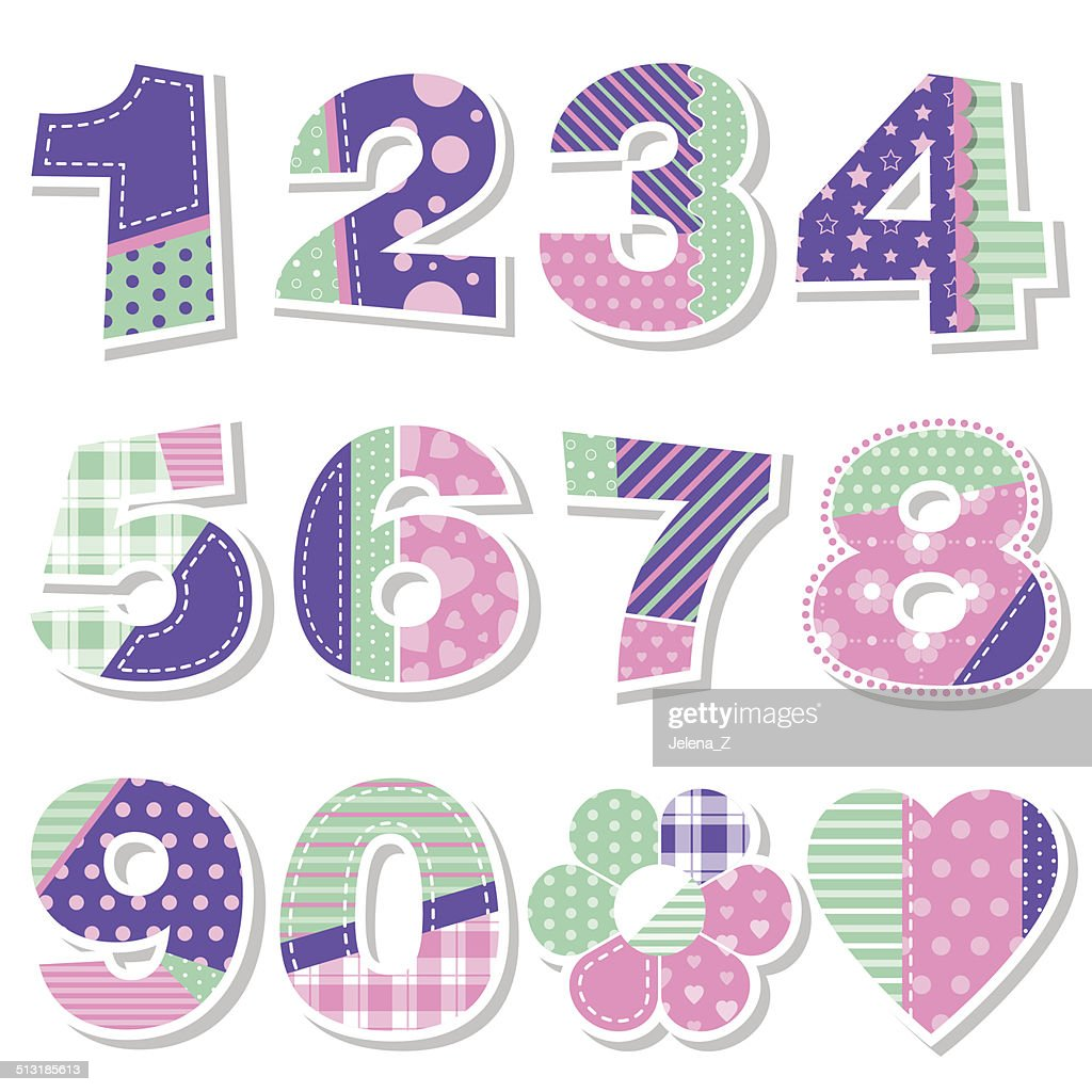 cute birthday numbers collection