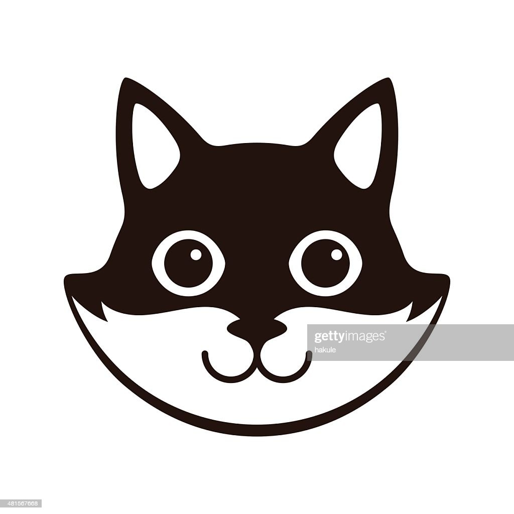 Cute Black And White Cat Cartoon Flat Icon Design High Res Vector Graphic Getty Images