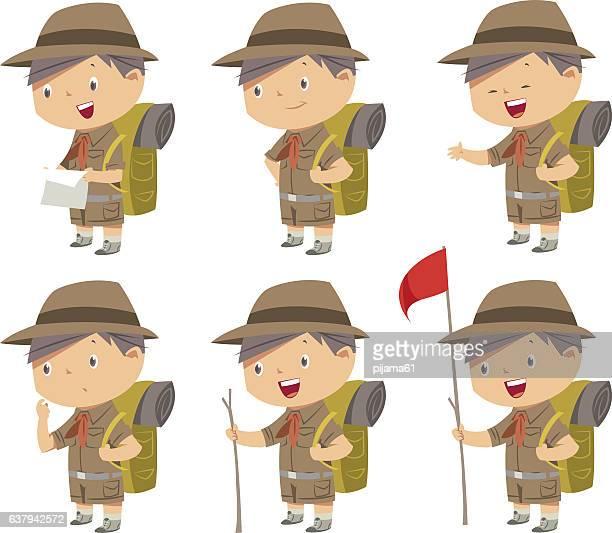 Cute boy scout
