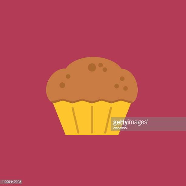 cute breakfast food icon - muffin - muffin stock illustrations, clip art, cartoons, & icons