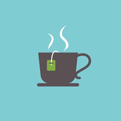 Cute Breakfast Food Icon - Teacup - gettyimageskorea
