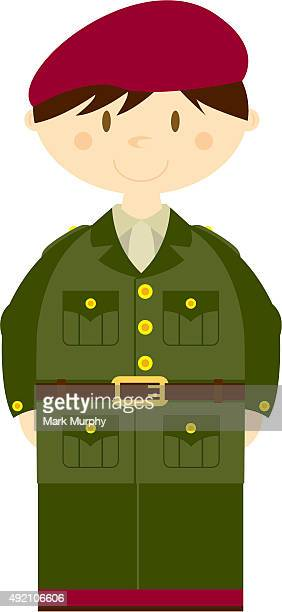 Mignon soldat de l'armée britannique